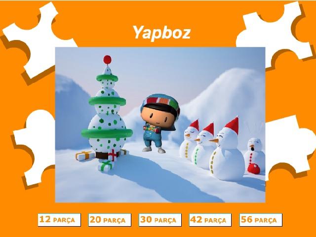 Pepee kardan adam yapbozu ile keyifli bir eğlence sizi bekliyor. Sayfamızda Pepee kardan adam yapboz oyunu oynayabilirsiniz.
