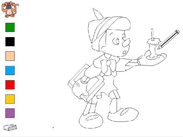 Pinokyo boyama oyunu ile keyifli bir eğlence sizi bekliyor. Sayfamızda Pinokyo boyama oyunu oynayabilirsiniz.