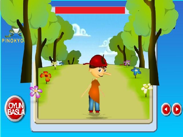 Pinokyo koşu oyununda amaç: Pinokyo'nun engellere takılmadan uzun en uzun süre koşmasına yardımcı olmak.