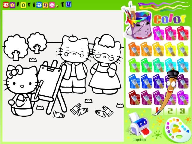 Hello Kittyboyama oyunuile keyifli bir eğlence sizi bekliyor. Sayfamızda Hello Kitty boyama oyunu oynayabilirsiniz. Yeni Hello Kittyboyama oyunları
