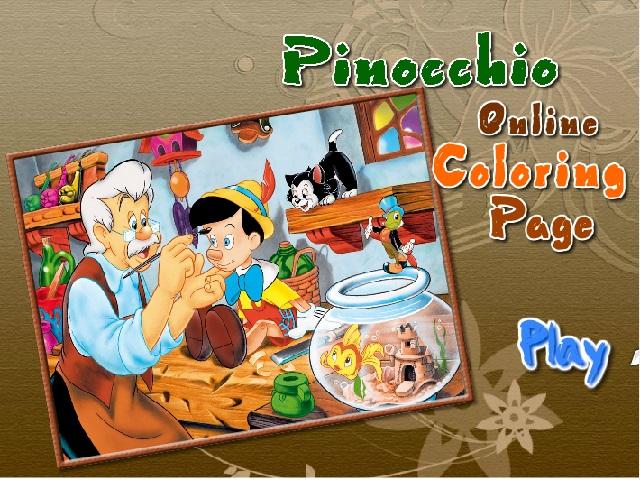 Pinokyo boyama oyunu oyna ve Pinokyonun renkli dünyasına sen de katıl. Sayfamızda Pinokyo boyama oyunu oynayabilirsiniz. Yeni Pinokyo boyama oyunları