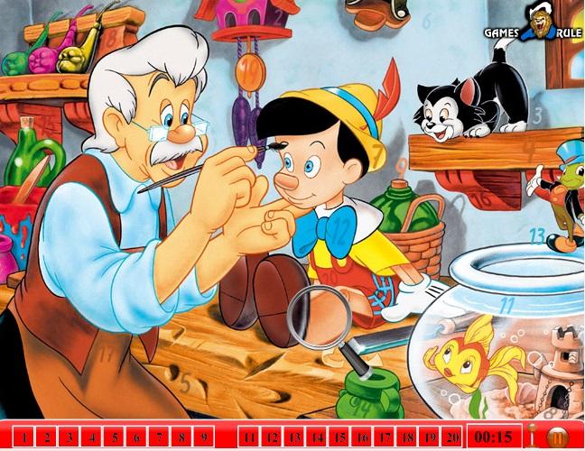 Pinokyo sayı bulma oyunu ile keyifli bir eğlence sizi bekliyor. Sayfamızda pinokyo sayı bulmaca oyunu ile oynayabilirsiniz. Yeni Pinokyo oyunları