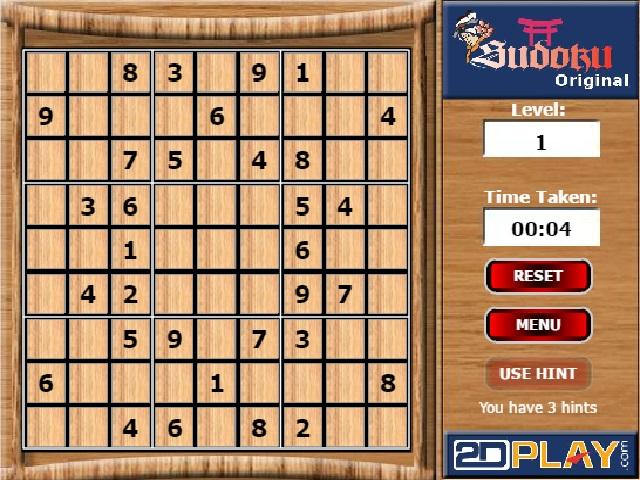 Sudoku 2d oyunu oyna ve eğlen ve zekanı geliştir. Sayfamızda sayı yerleştirme oyunu sudoku oynayabilirsiniz. Yeni sudoku oyunları da sitemize eklenecek.