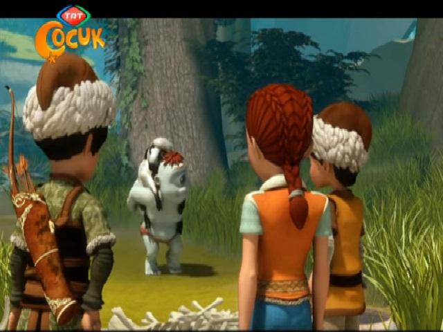 Dede Korkut Tepegöz'ün obadan kovulması çizgi filmi animasyon film olarak Trt Çocuk kanalı için hazırlanmıştır. Tepegözün obadan kovulması masalı