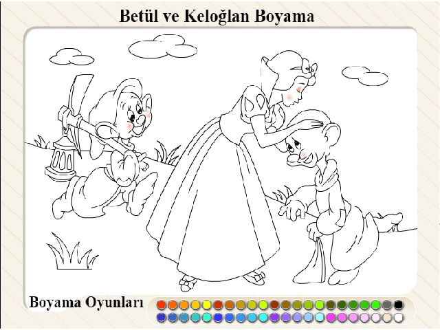 Keloglan Prenses Boyama Oyunu Oyna