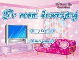 Tv odası dekoru oyna. Sayfamızda tv odası dekorasyon oyunu oynayın. Televizyon odası dekor oyunları sitemizde oynanır.